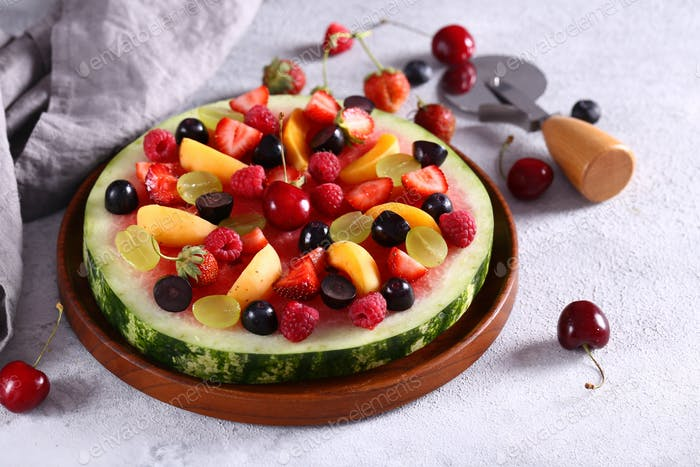 Fruit Pizza Watermelon