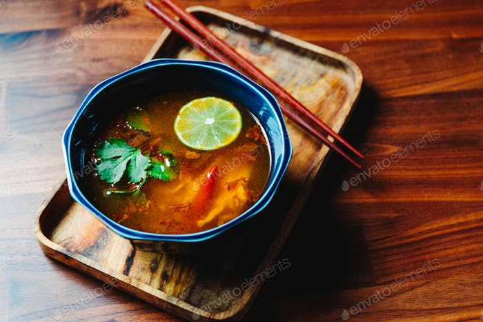 Vegetarian Thai Tom Yum soup