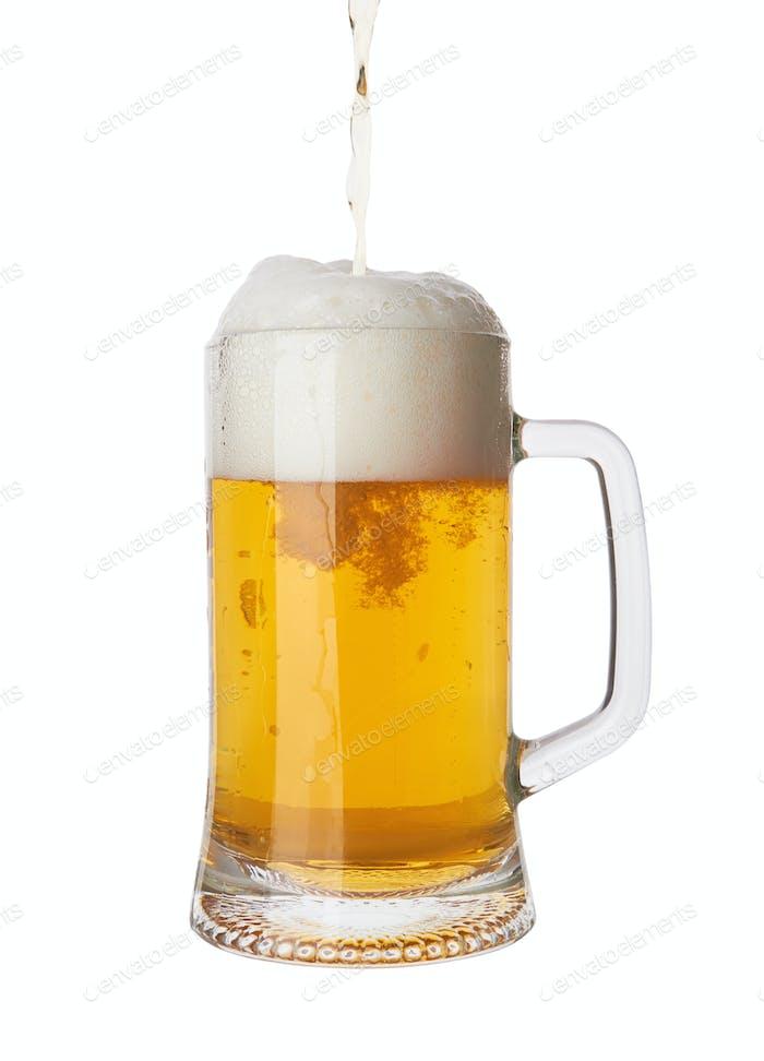 Gläser mit Bier