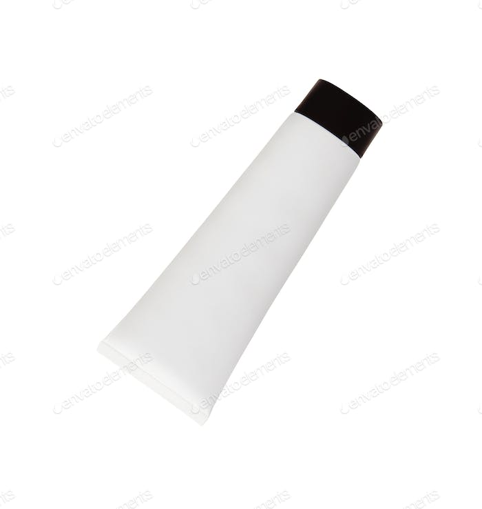 White tube for cream isolated on white