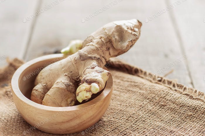 Ginger in a bowl