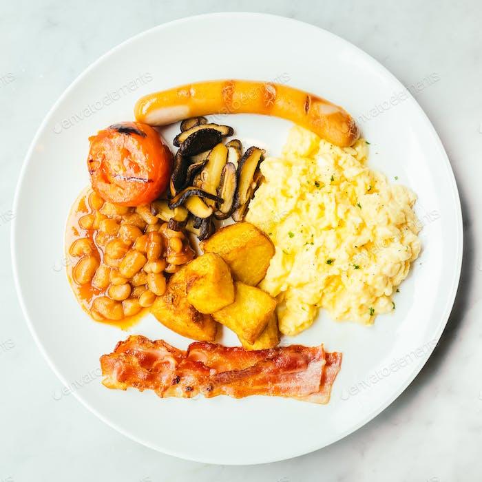 English breakfast dish