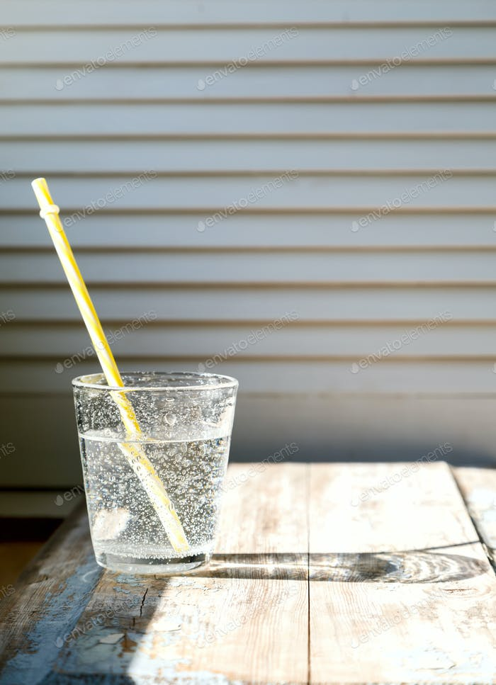 Water in a  Glass. Concept of Energy and Purity.