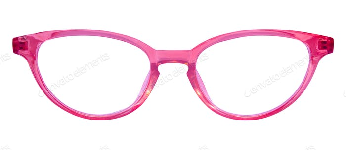 Retro Pinkfarbene Katzenaugenbrille