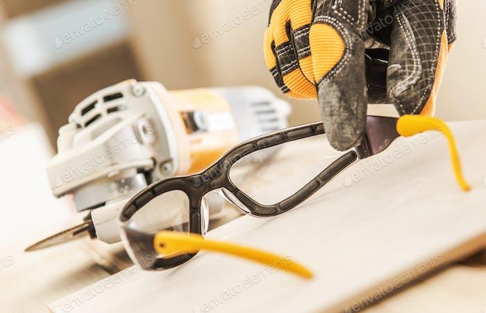 Gafas de seguridad para construcción