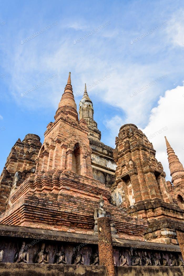 Ancient chapel in Sukhothai Historical Park