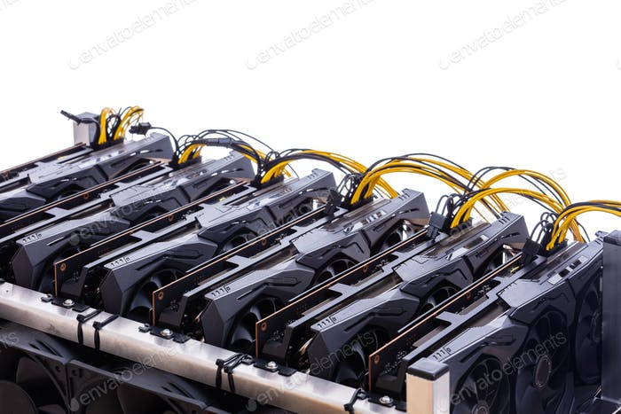 Bitcoin and cryptocurrency miner - a mining computer isolated
