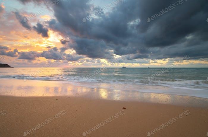 Seascape nature composition.