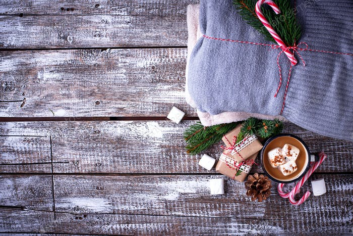 Homemade hot chocolate or cocoa drink
