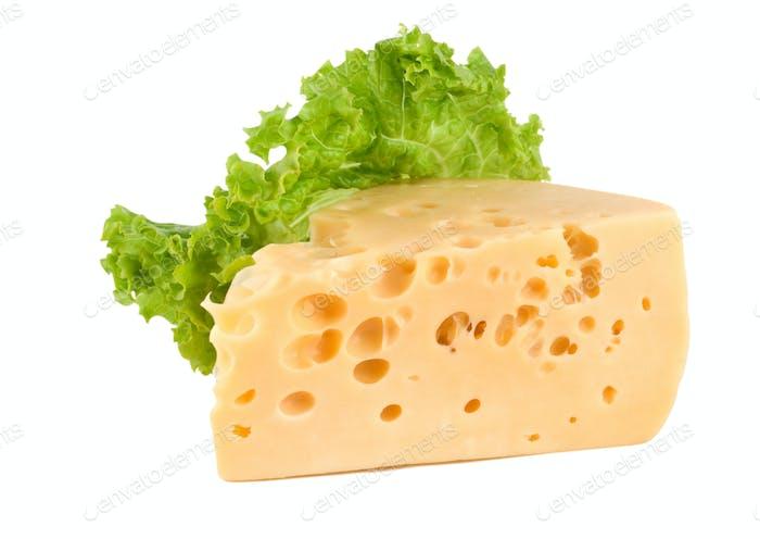 Сыр с салатом