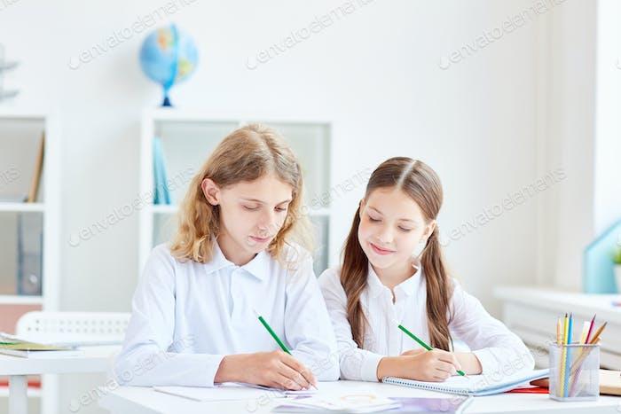 Inspired classmates
