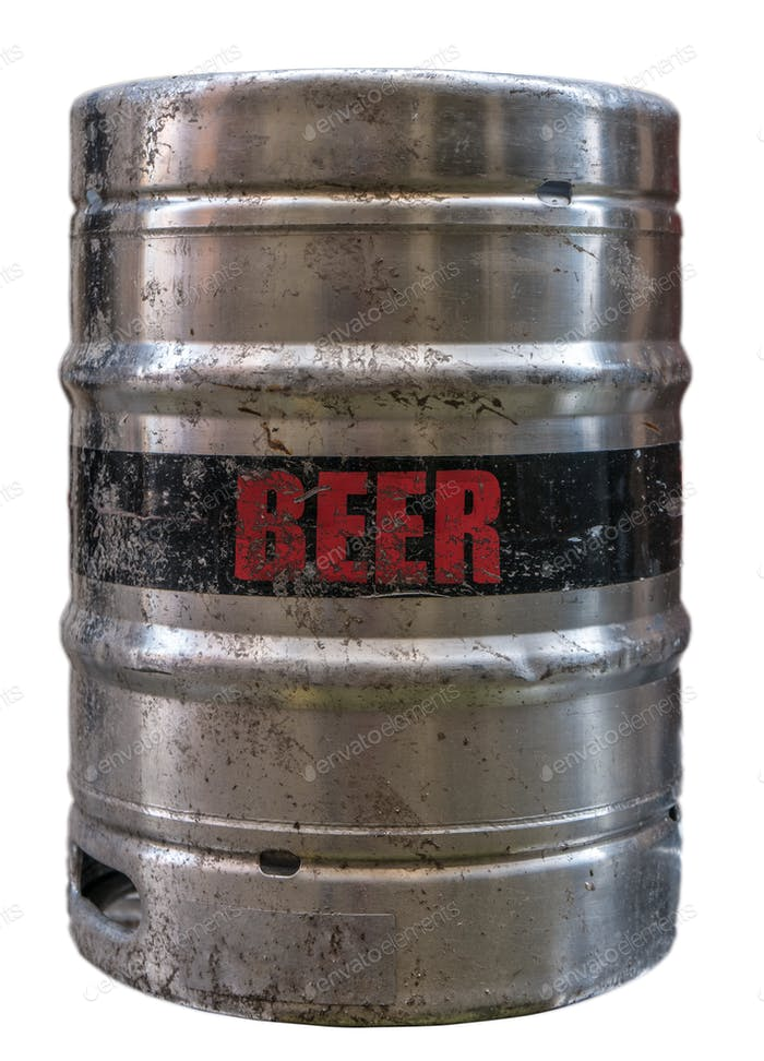 Isolated Beer Keg