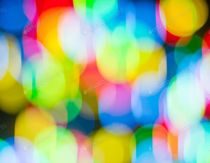 Defocused multi bokeh light_