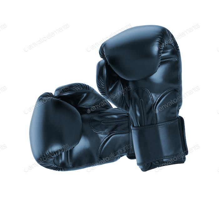 Boxing gloves on white