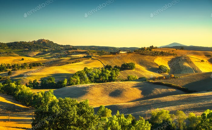 Tuscany summer, Montepulciano medieval village. Siena, Italy