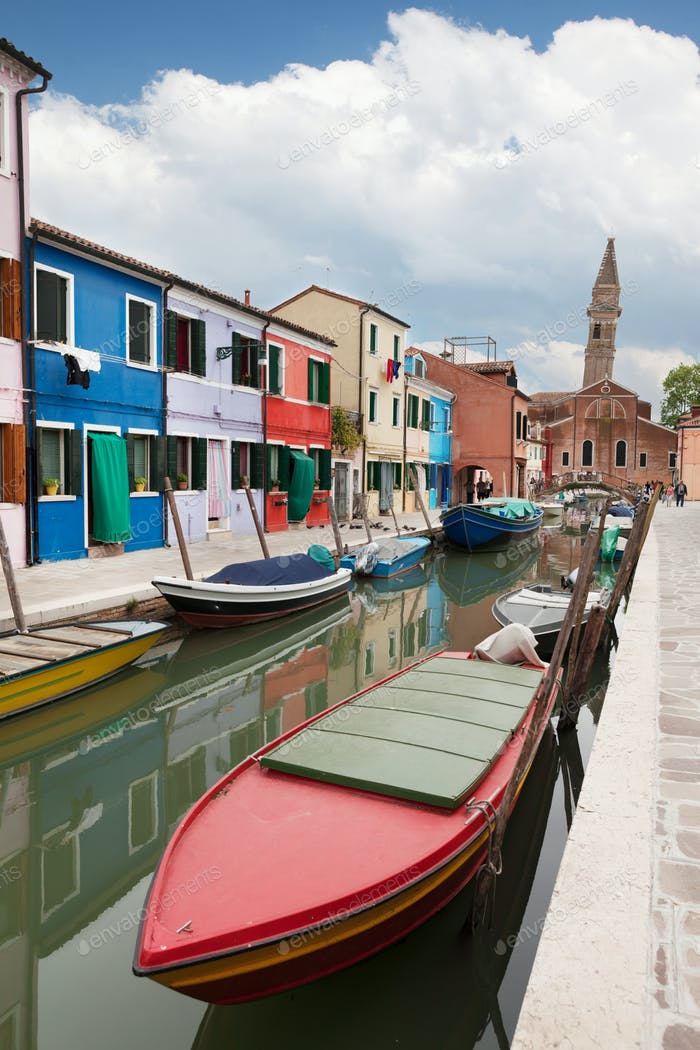 Colorful houses of Burano