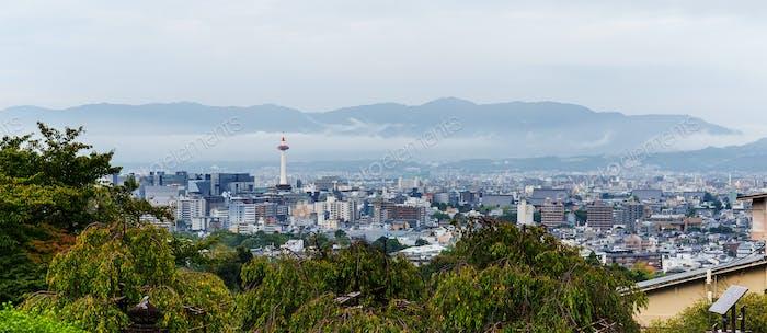 Kyoto, Japan, 04 October 2016:- Kyoto skyline