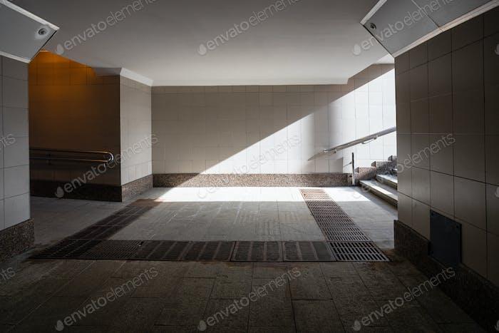 Underground passage lit by the sun