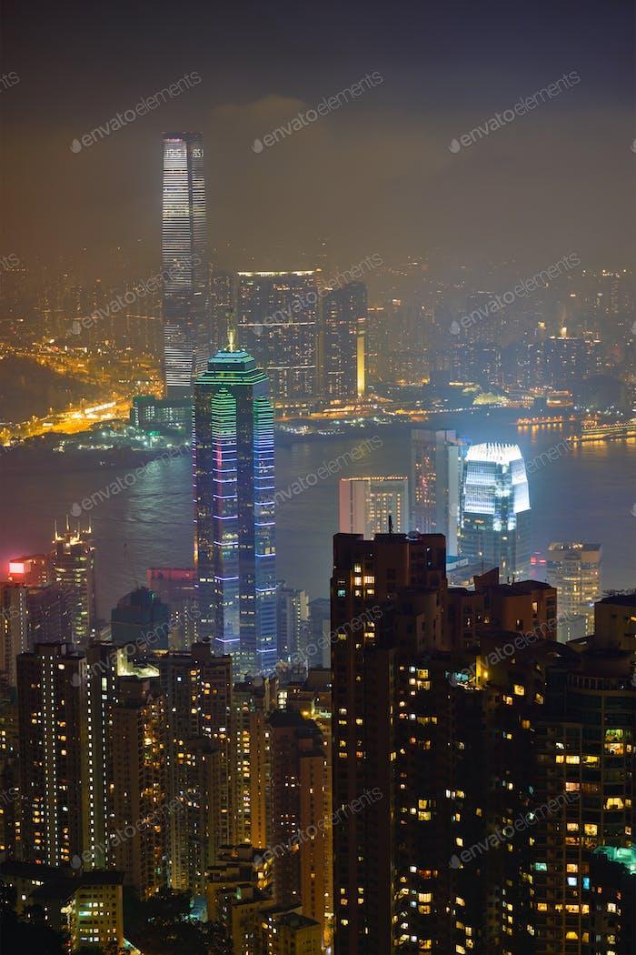 Hong Kong Wolkenkratzer Skyline Stadtbild Blick