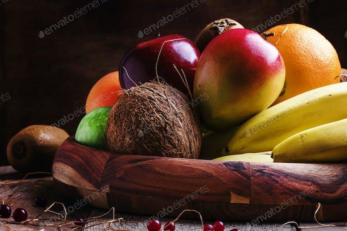 Fruits on tray