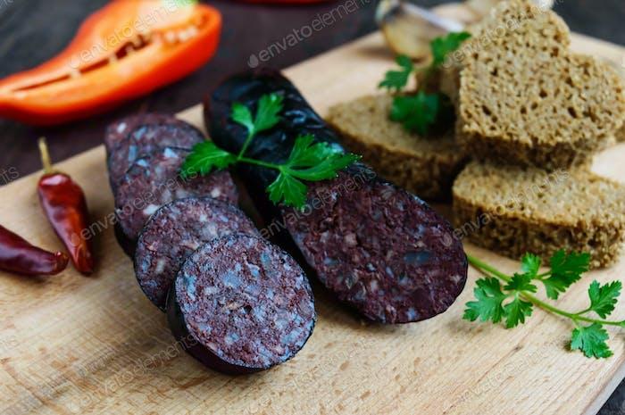 Spanish black pudding, blood sausage