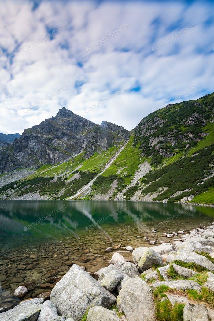 Black Pond (Czarny Staw Gasienicowy, High Tatra Mountains, Polan
