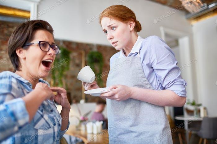 Careless waitress