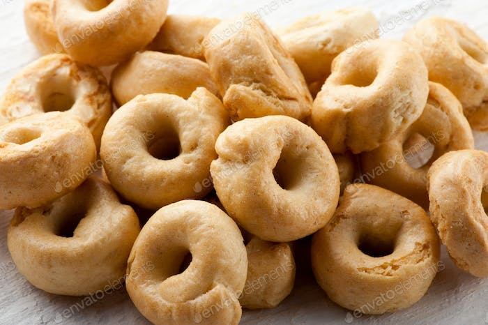 Pile of crunchy Italian taralli crackers