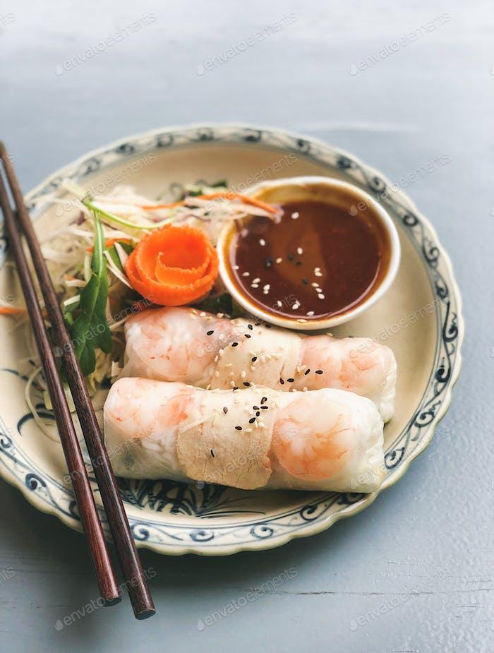 Asian style dinner