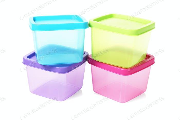 Colourful Square Plastic Containers