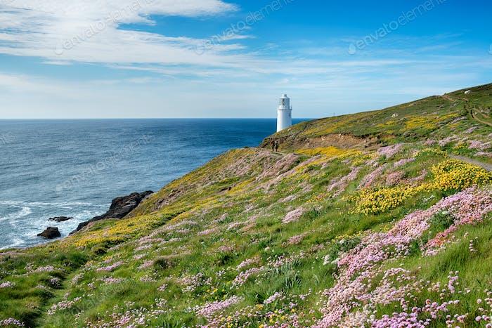 Trevose Leuchtturm in Cornwall