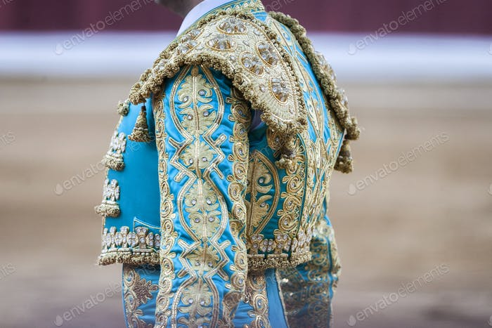 "Detail of the ""traje de luces"" or bullfighter dress, Spain"