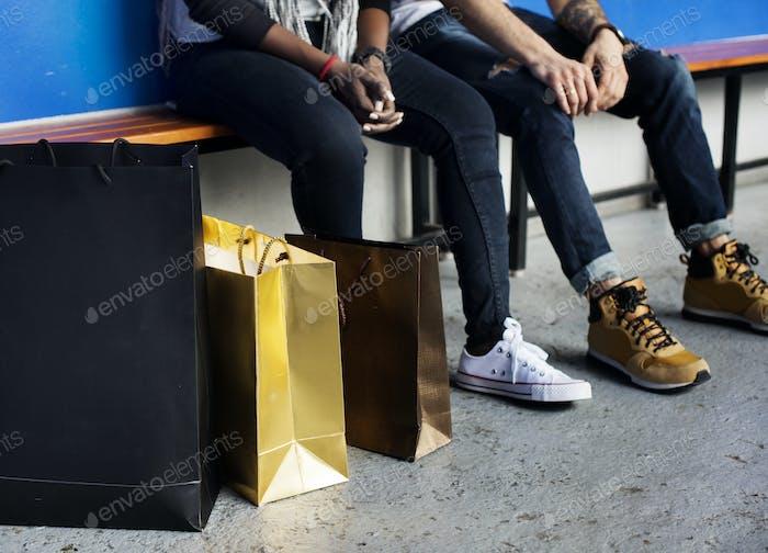 People enjoy shopping