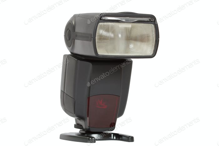 Digital auto flash, isolated on white  background, with clipping
