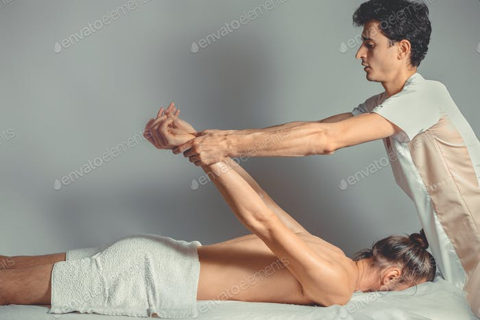 Thumbnail for Massage stretching therapy.