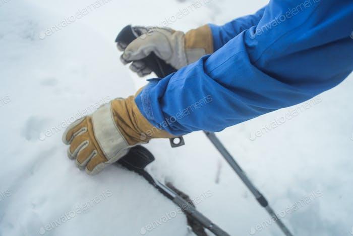 trekking poles winter