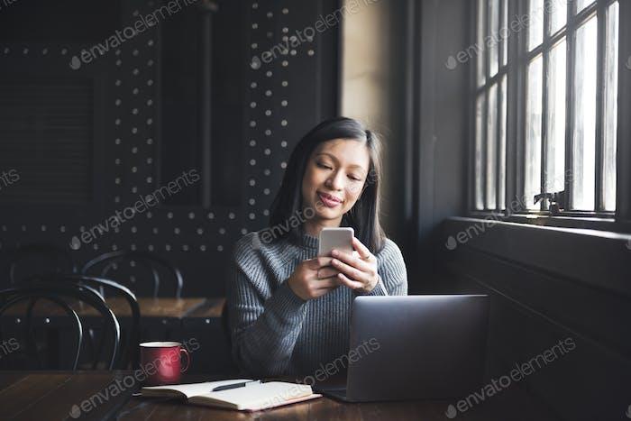 Online Communication Technology Chat Concept
