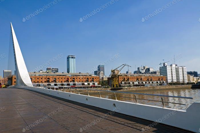 Puente de la Mujer and Puerto Madero