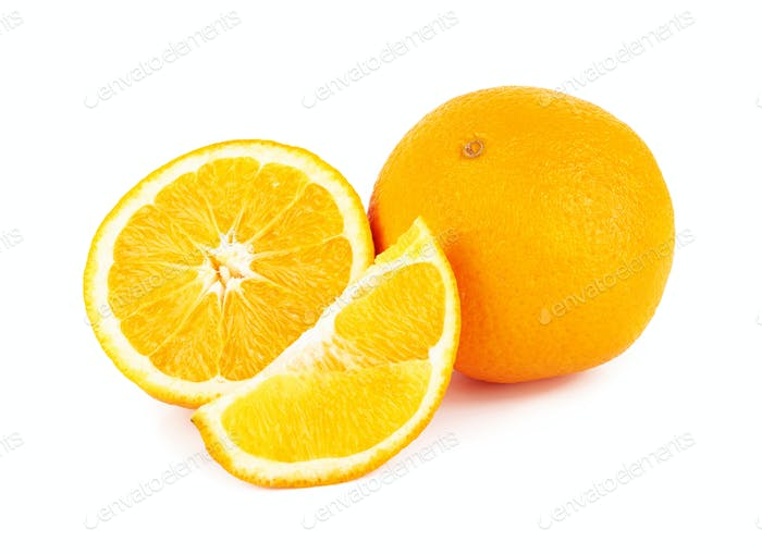 Orange fruit on white