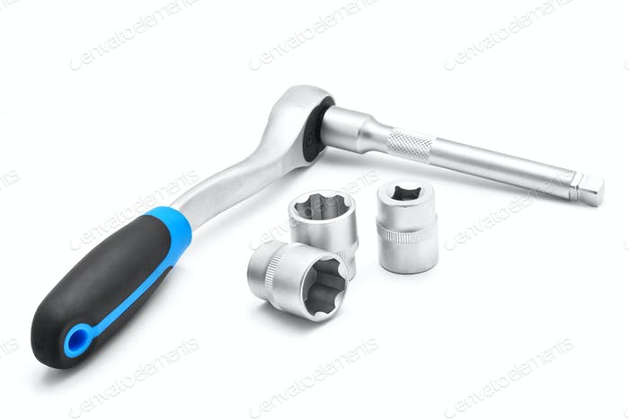 ratchet spanner and tubular socket bits