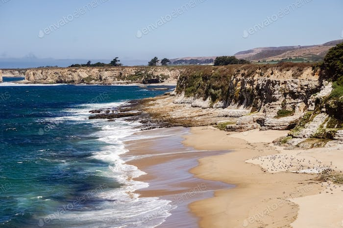 Beaches and cliffs on the Pacific Coast, Wilder Ranch State Park close to Santa Cruz, California