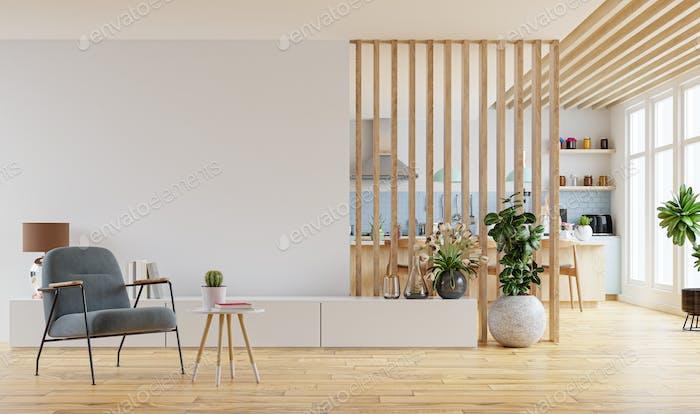 Moderner Innenraum mit Möbeln.