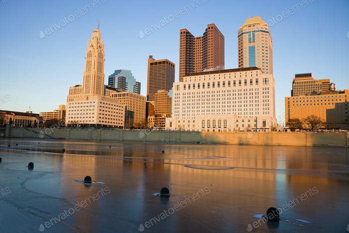 Columbus, Ohio - winter afternoon