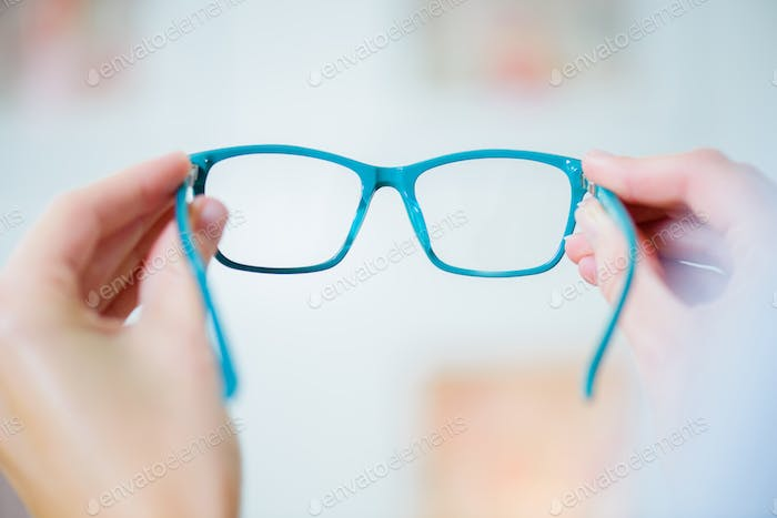 Closeup of pair of glasses