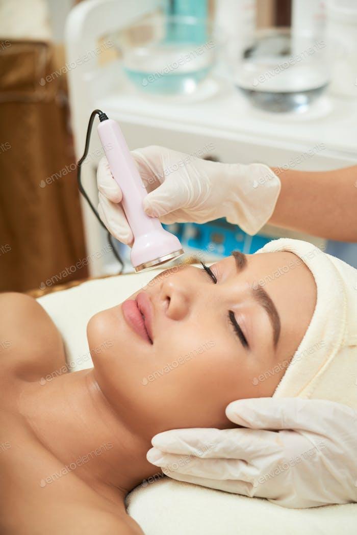 Undergoing Skin Resurfacing Procedure