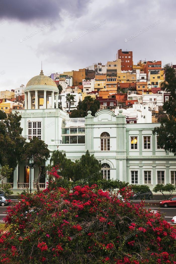 Colorful architecture of Barrio San Juan in Las Palmas