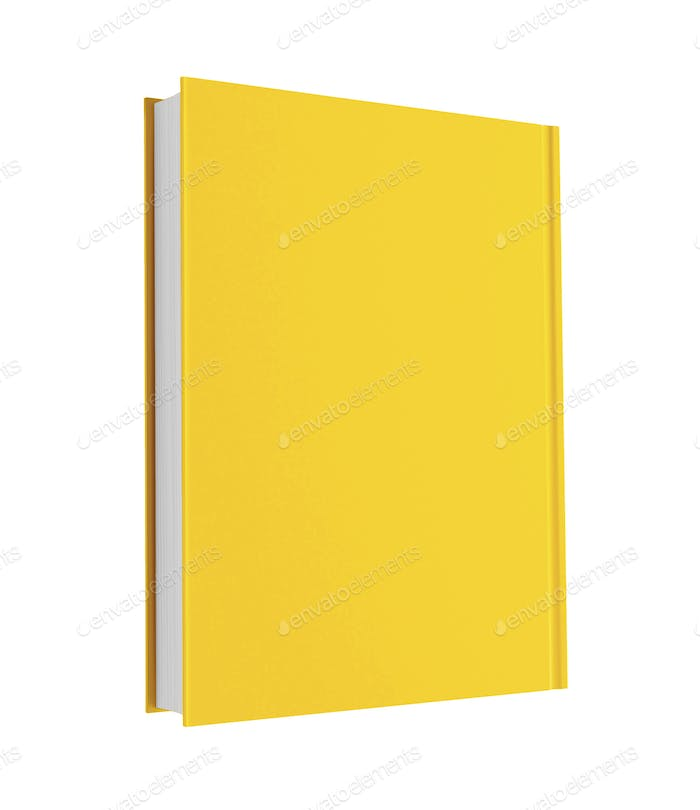 yellow book isolated