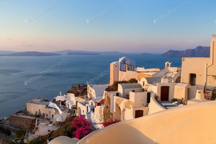 Sunrise on the island of Santorini