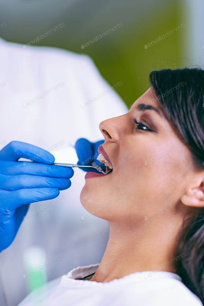 Dental Exam Close-up