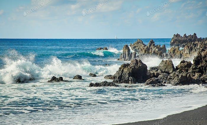 Beautiful landscape of Lanzarote Island